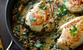 Smothered Creamy Skillet Chicken | Diabetes Strong – Healthy Recipes High Protein
