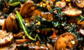 Smothered Kale With Baby Bella Mushrooms – Healthy Recipes With Mushrooms