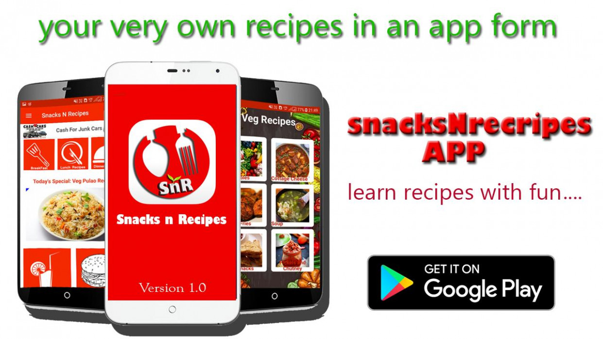 snacksNrecipes - Food recipes cooking app for Android - APK ..