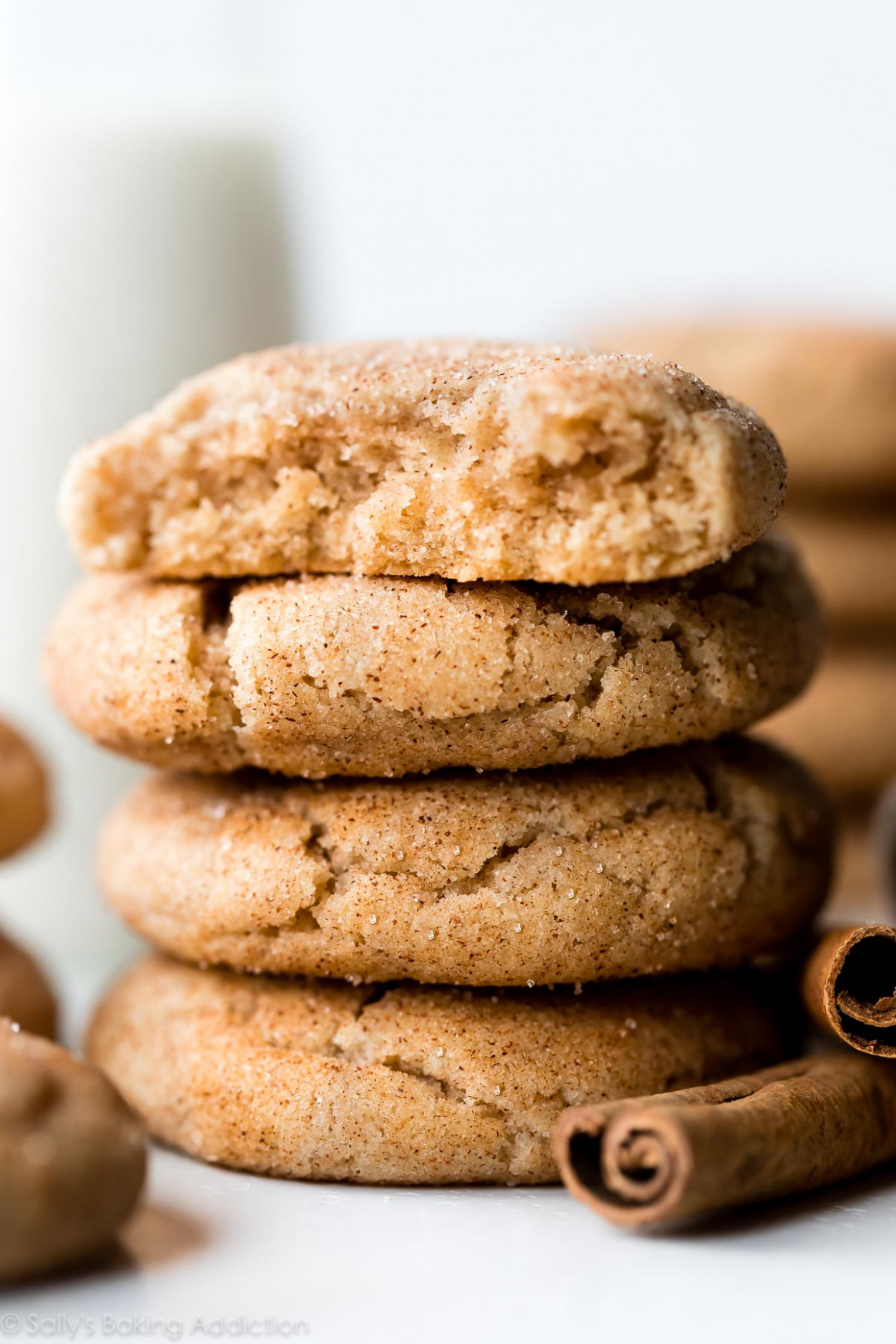 Soft & Thick Snickerdoodles - Soft Food Recipes