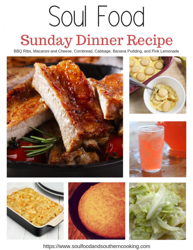 Soul Food Dinner Menu and Recipes - BBQ Ribs Dinner - recipes sunday dinner