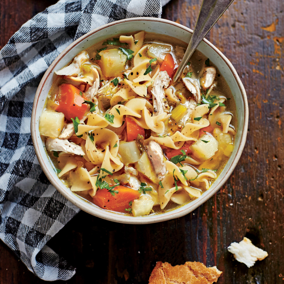Soulful Chicken Soup Recipe | MyRecipes - recipes of chicken soup