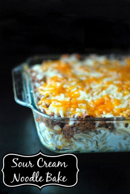Sour Cream Noodle Bake - Aunt Bee's Recipes - chicken recipes for instant pot