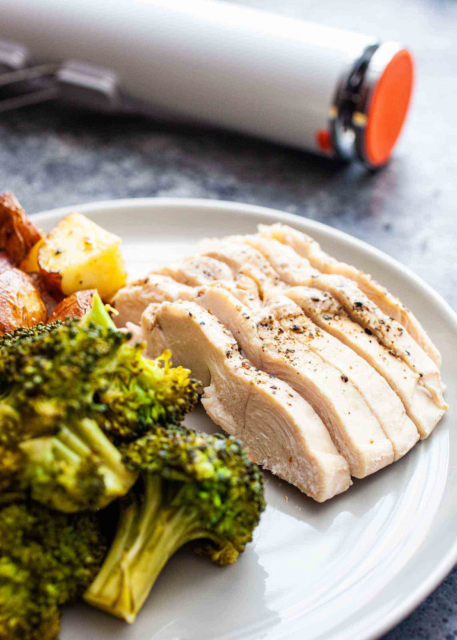 Sous Vide Chicken and Broccoli Recipe | SimplyRecipes