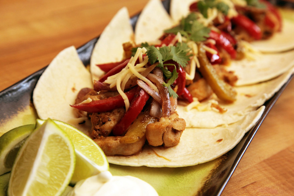 Sous Vide Chicken Fajitas - sous vide recipes chicken