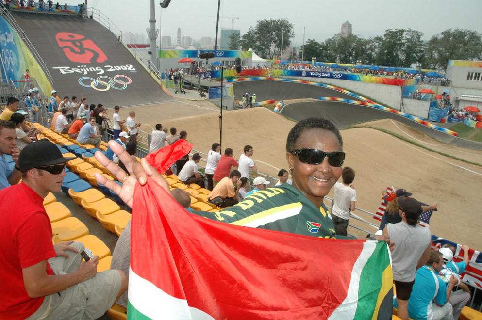 South Africa Supporter OLYMPIC BMX Laoshan Cycling Facility, Beijing China_0331 - healthy recipes south africa