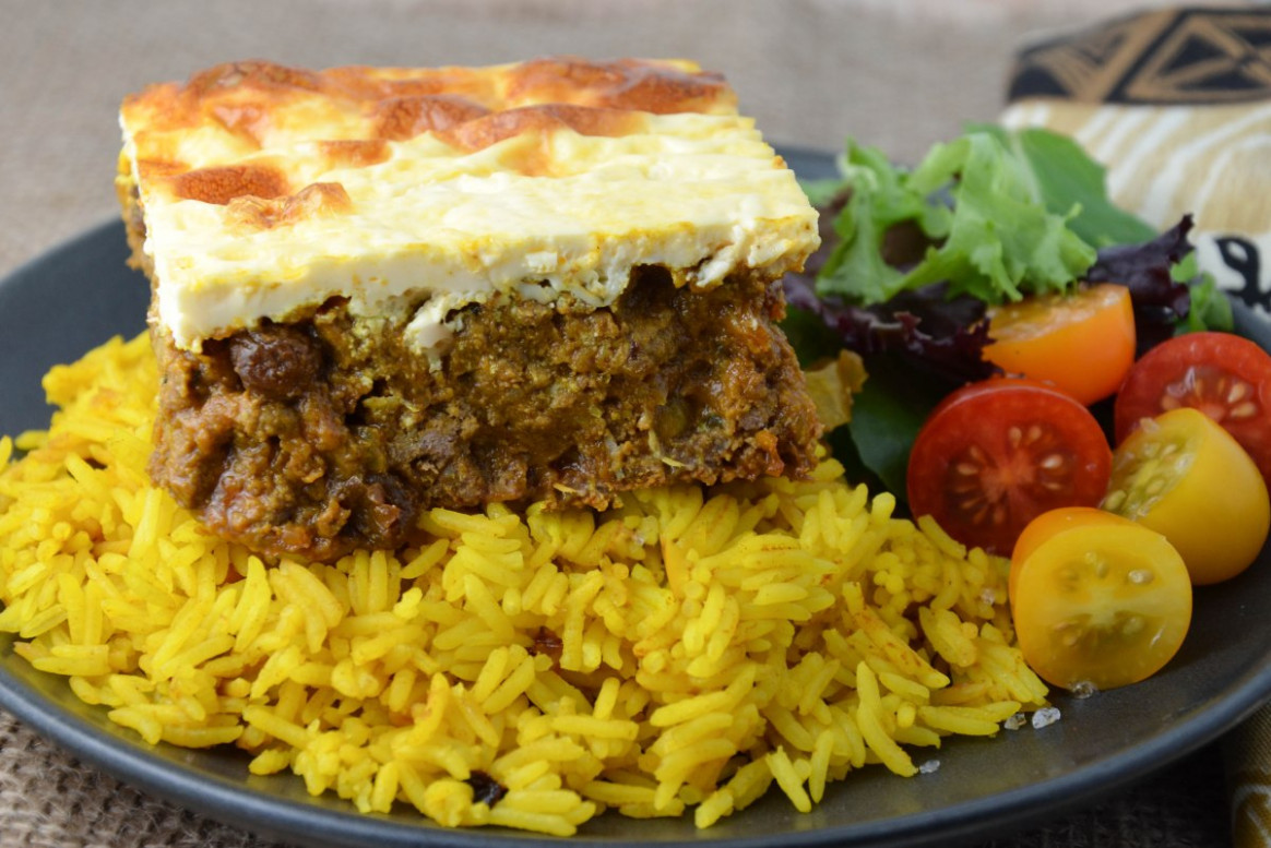 South African Bobotie with Yellow Rice | Foodie On Board - african food recipes