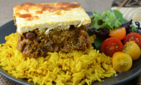 South African Bobotie with Yellow Rice | Foodie On Board