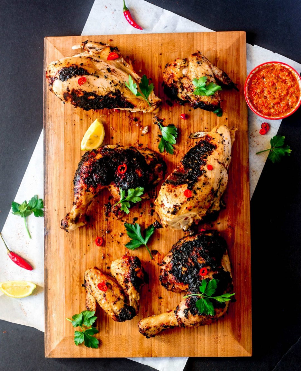 South African Style Peri Peri Chicken with Peri Peri Sauce - african recipes chicken
