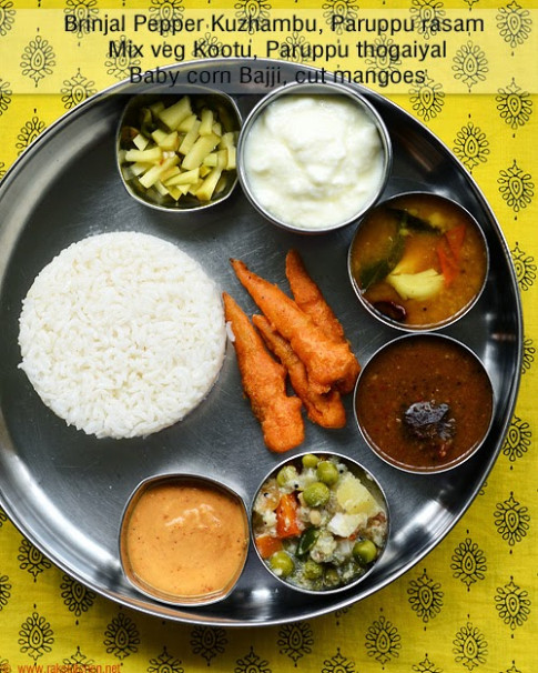 South Indian Lunch Ideas - Lunch Menu 54 | Raks Kitchen ..