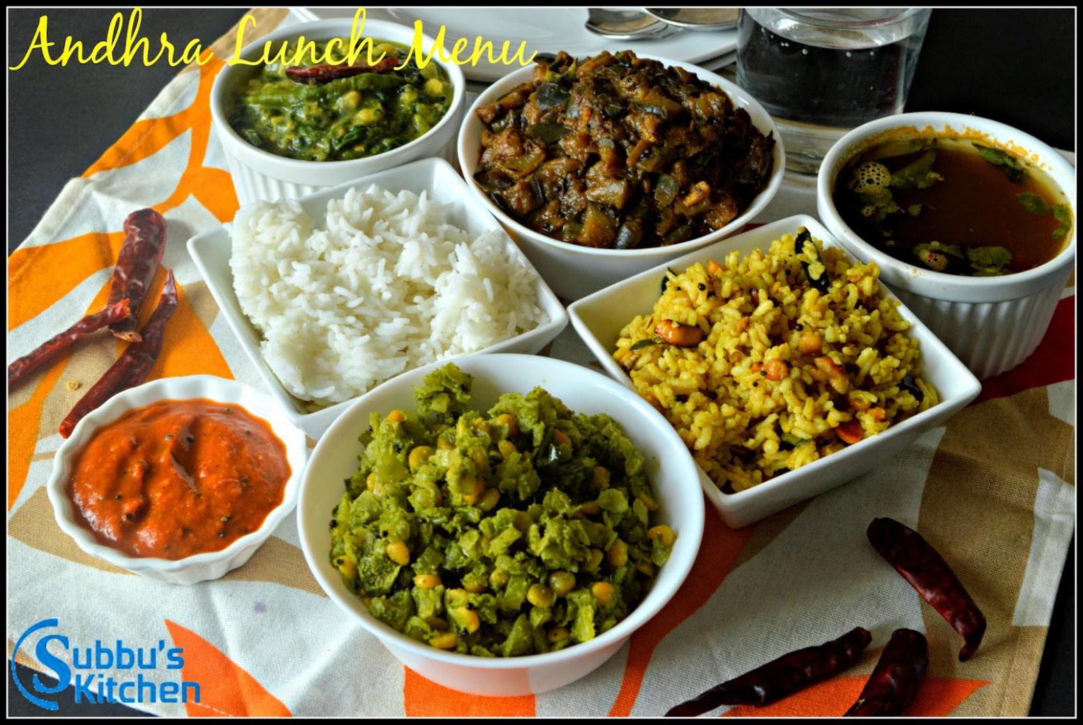 South Indian Lunch Menu 13 - Andhra Lunch Menu - Subbus Kitchen - dinner recipes veg south indian