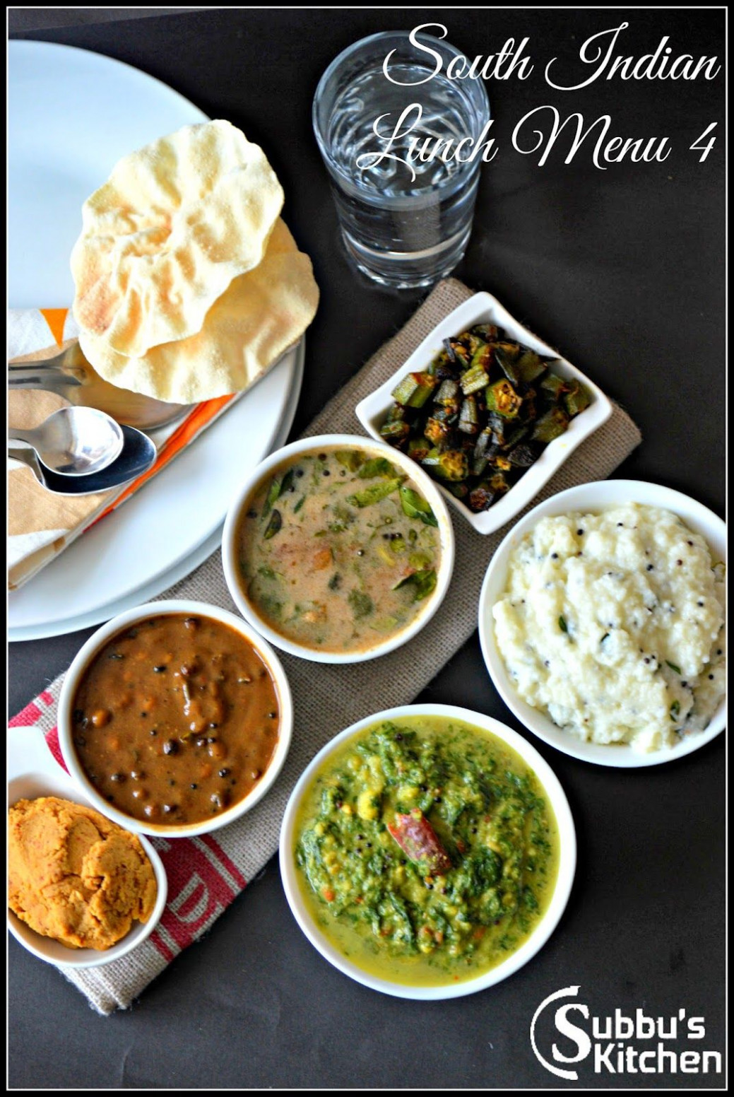 South Indian Lunch Menu 4 | Indian Thali a complete meal ..