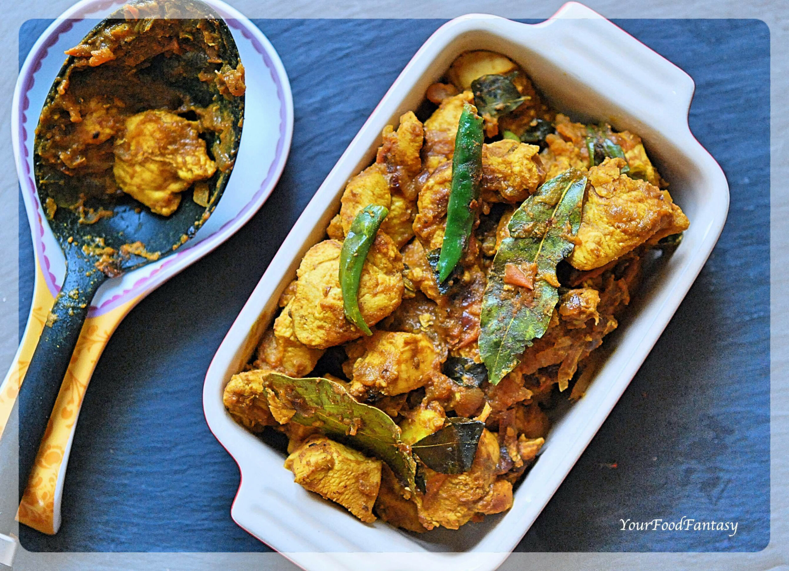 South Indian Style Dry Chicken Curry - chicken recipes south indian