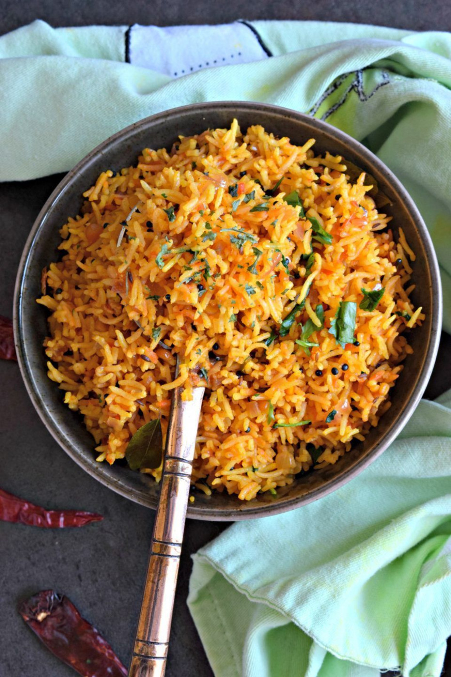 South Indian Style Tomato Rice - recipes south indian vegetarian