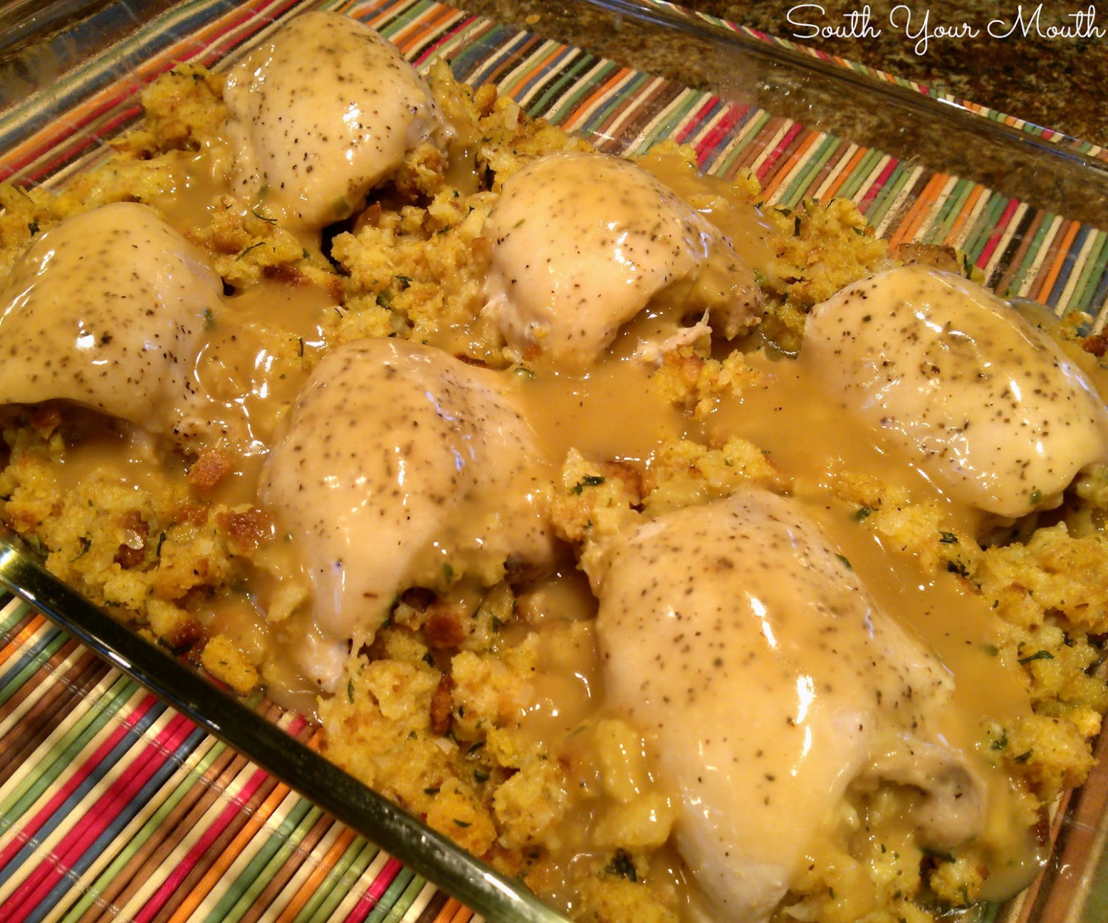 South Your Mouth: Stuffed Chicken with Gravy - stove top recipes chicken
