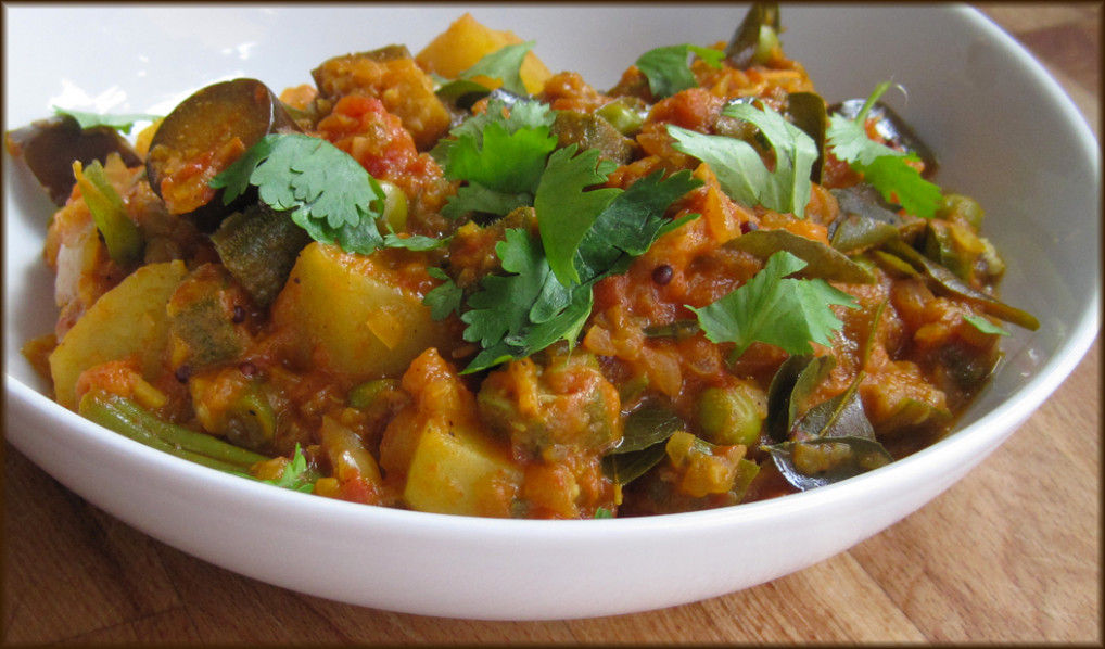 Southern Indian Vegetable Curry - A Glug of Oil - recipes for vegetarian curry