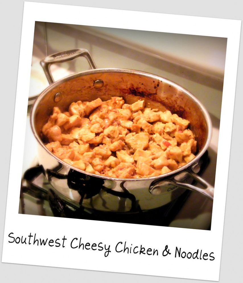 Southwest Cheesy Chicken & Noodles - recipes for dinner with chicken