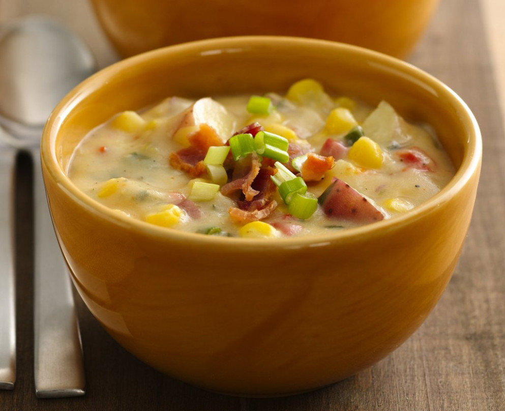 Southwest Potato-Corn Chowder Recipe - dinner recipes low fat