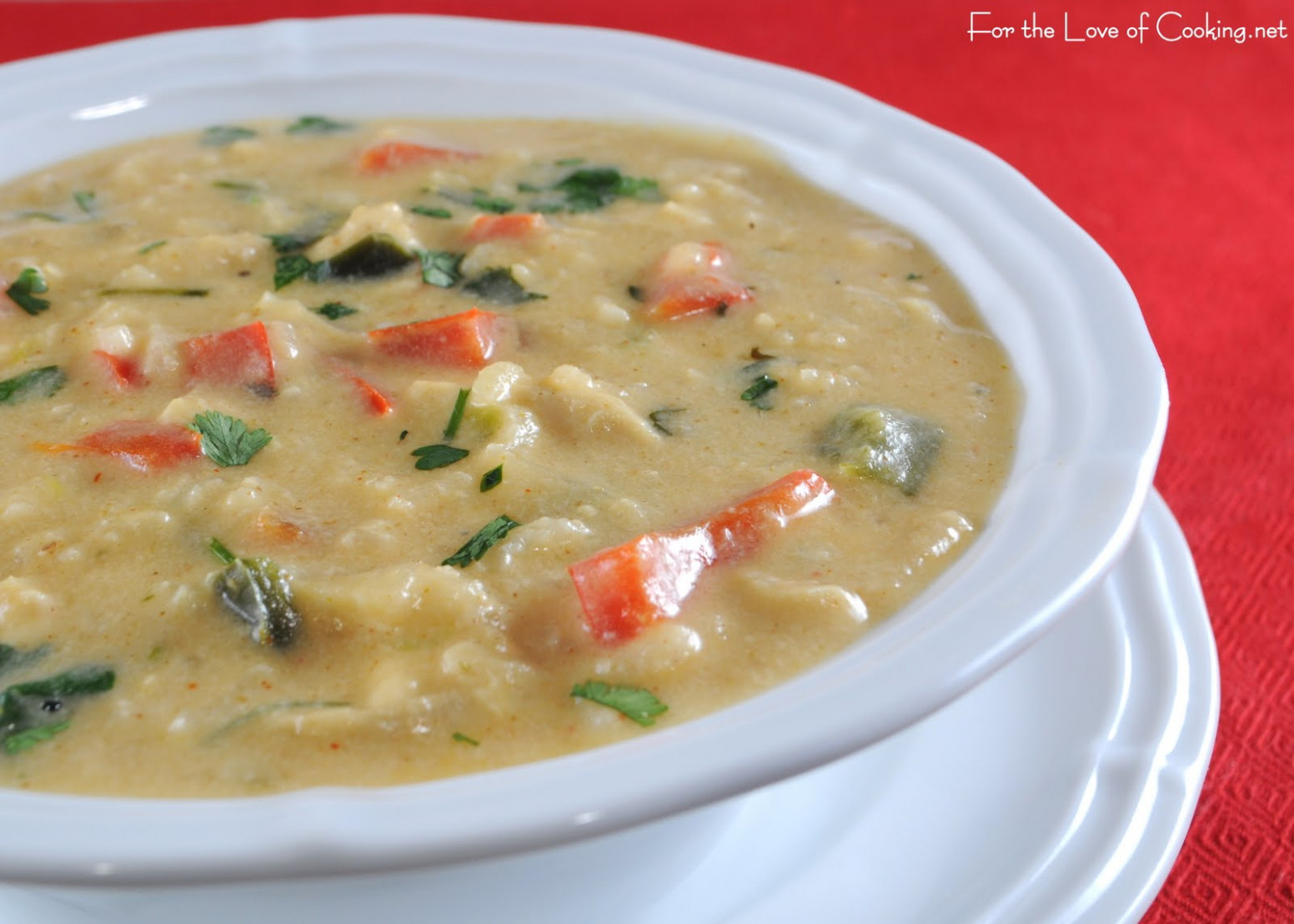 Southwestern Cream of Chicken Soup | For the Love of Cooking