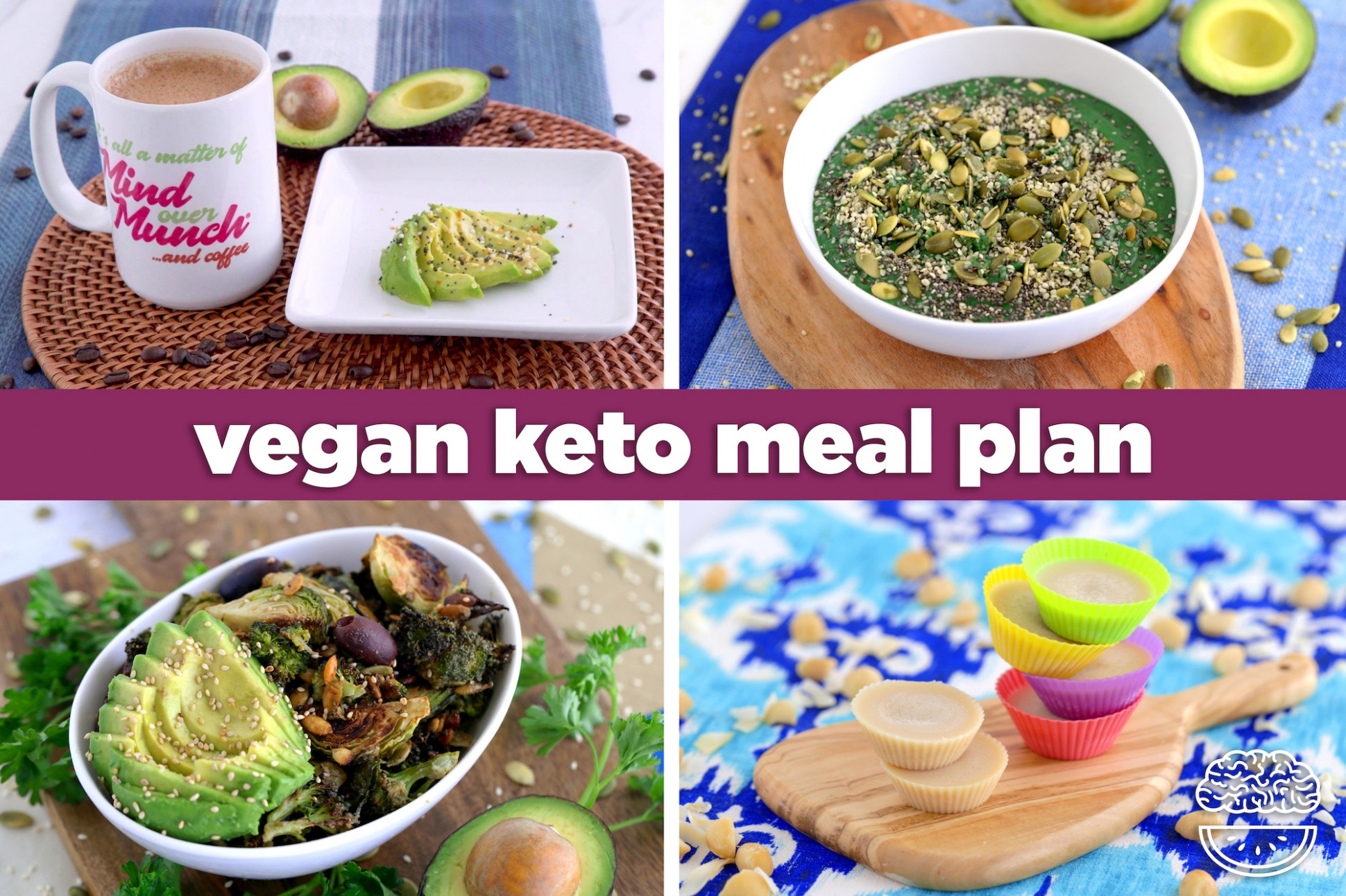 Soy Free Vegan Keto Meal Plan for the Day: 13 Meals + Dessert ..
