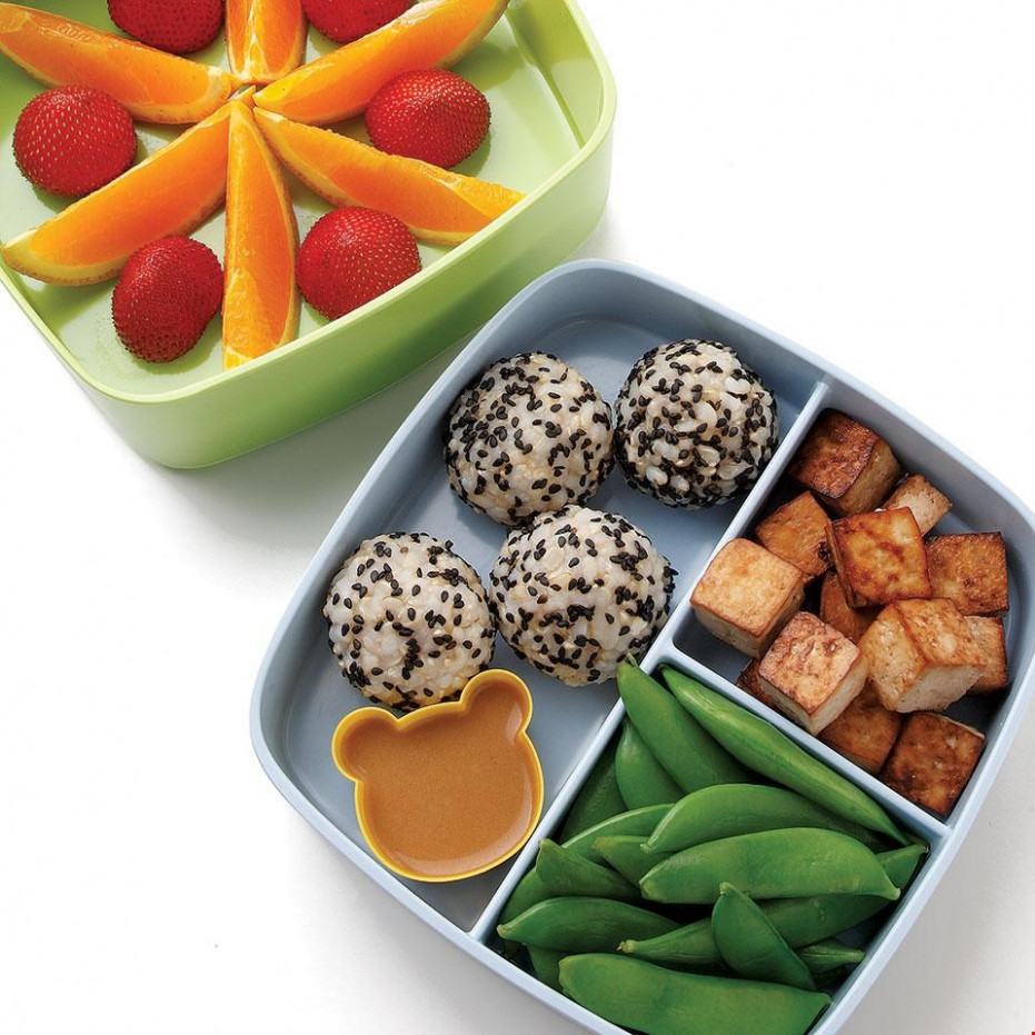 Soy-Lime Tofu & Rice Bento Lunch Recipe - EatingWell - healthy japanese recipes