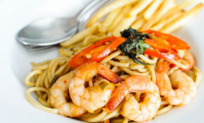 Spaghetti Basil Spicy Shrimp – Mediterranean Recipes Dinner