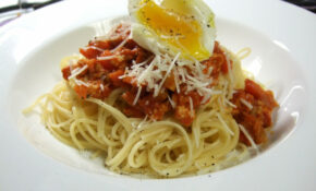 Spaghetti Bolognese With Soft Boiled Egg – Chicken Recipes With Pasta