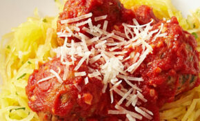 Spaghetti Squash & Meatballs Recipe – EatingWell – Recipes Spaghetti Squash Healthy
