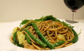 Spaghetti With Walnut Pesto, Green Beans And Potatoes – Healthy Recipes For Lunch