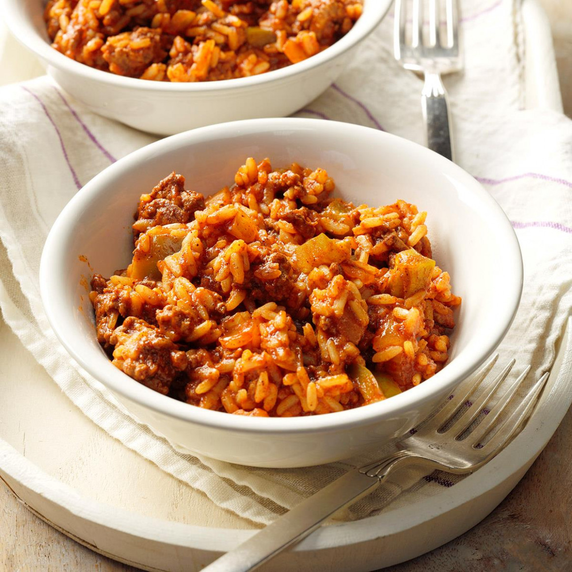 Spanish Rice with Ground Beef Recipe | Taste of Home - dinner recipes with ground beef