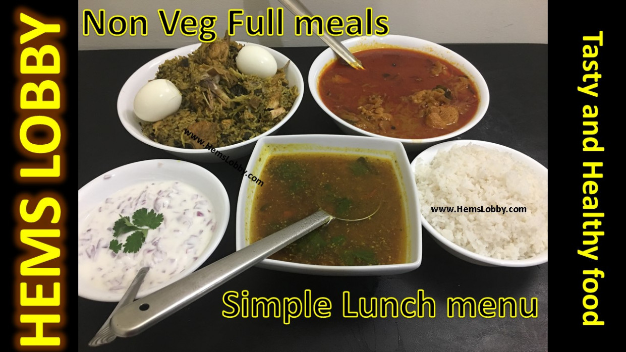Special Non Vegetarian Lunch Menu In Tamil  Simple Non Veg ..