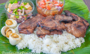 Special Pinoy Pork Chop Binalot Lunch Combo Meal Recipe