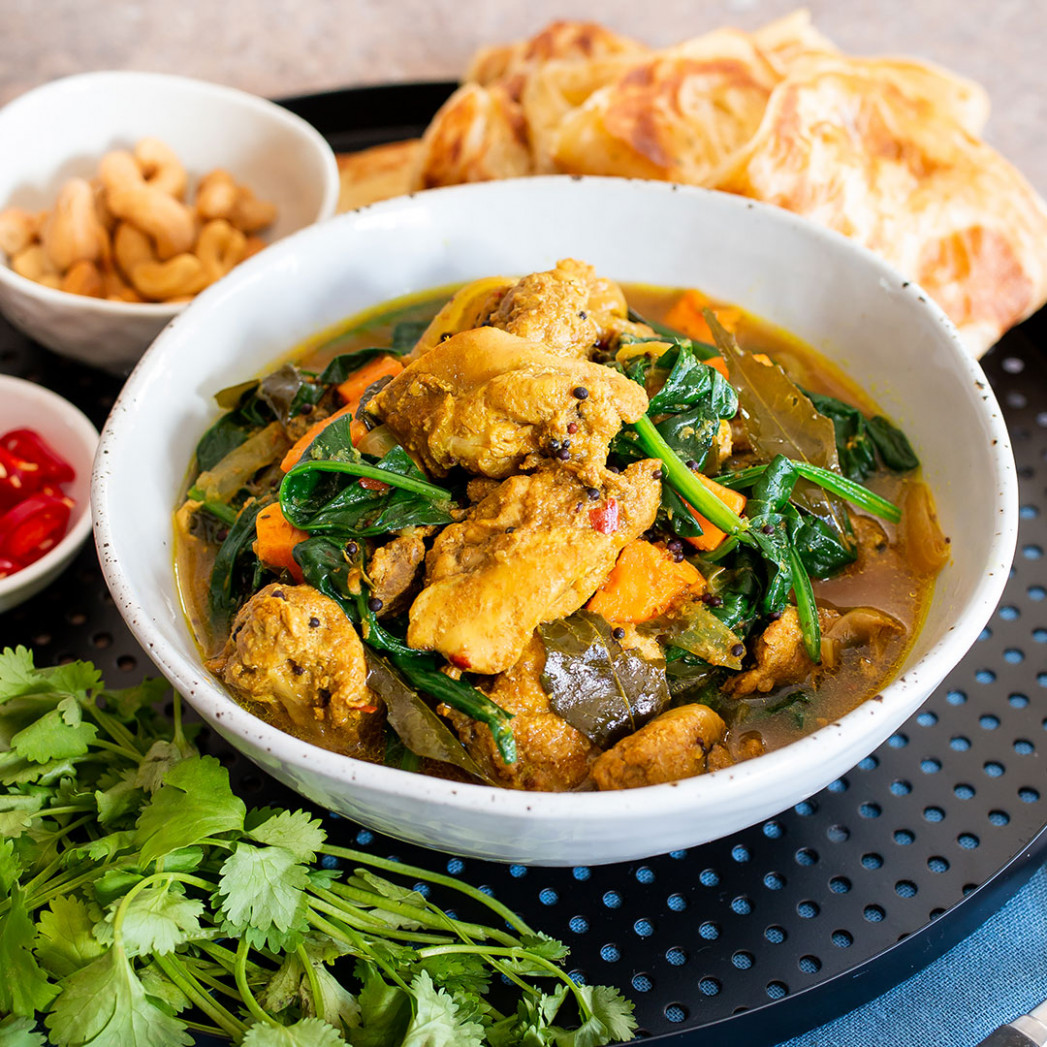 Spiced chicken curry with spinach - recipes nz chicken
