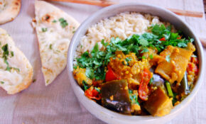 Spiced Indian Eggplant Curry – Recipe Vegetarian Yellow Curry