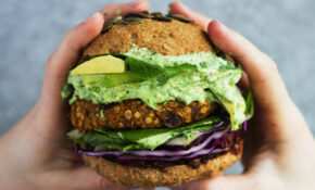 Spiced Red Lentil + Sweet Potato Burger