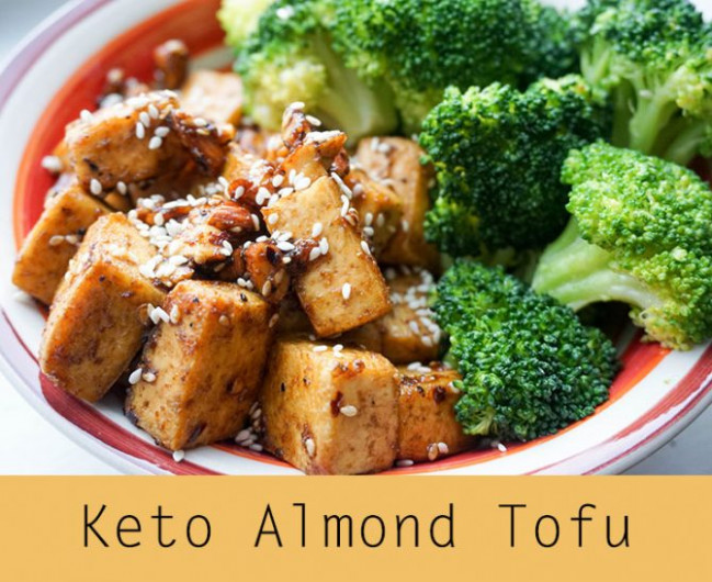 Spicy Almond Tofu - KetoConnect - keto vegetarian recipes dinner