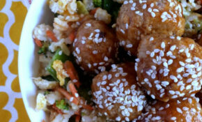 Spicy Asian Meatballs With Veggie Fried Rice – Recipes Dinner Asian