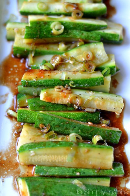 Spicy Asian Zucchini | Recipe | Spicy, Healthy side dishes ..
