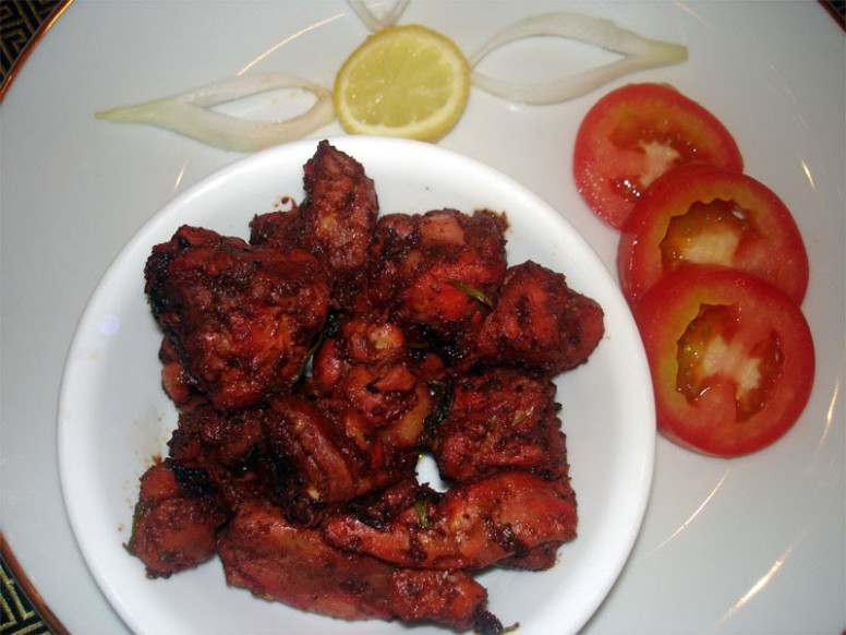 Spicy Chicken Dry Recipe - Indian Food Recipes - Indian Recipes Chicken