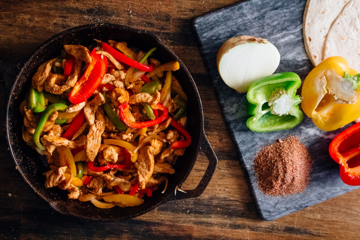 Spicy Chicken Fajitas - Dad With A Pan - healthy recipes good for the heart