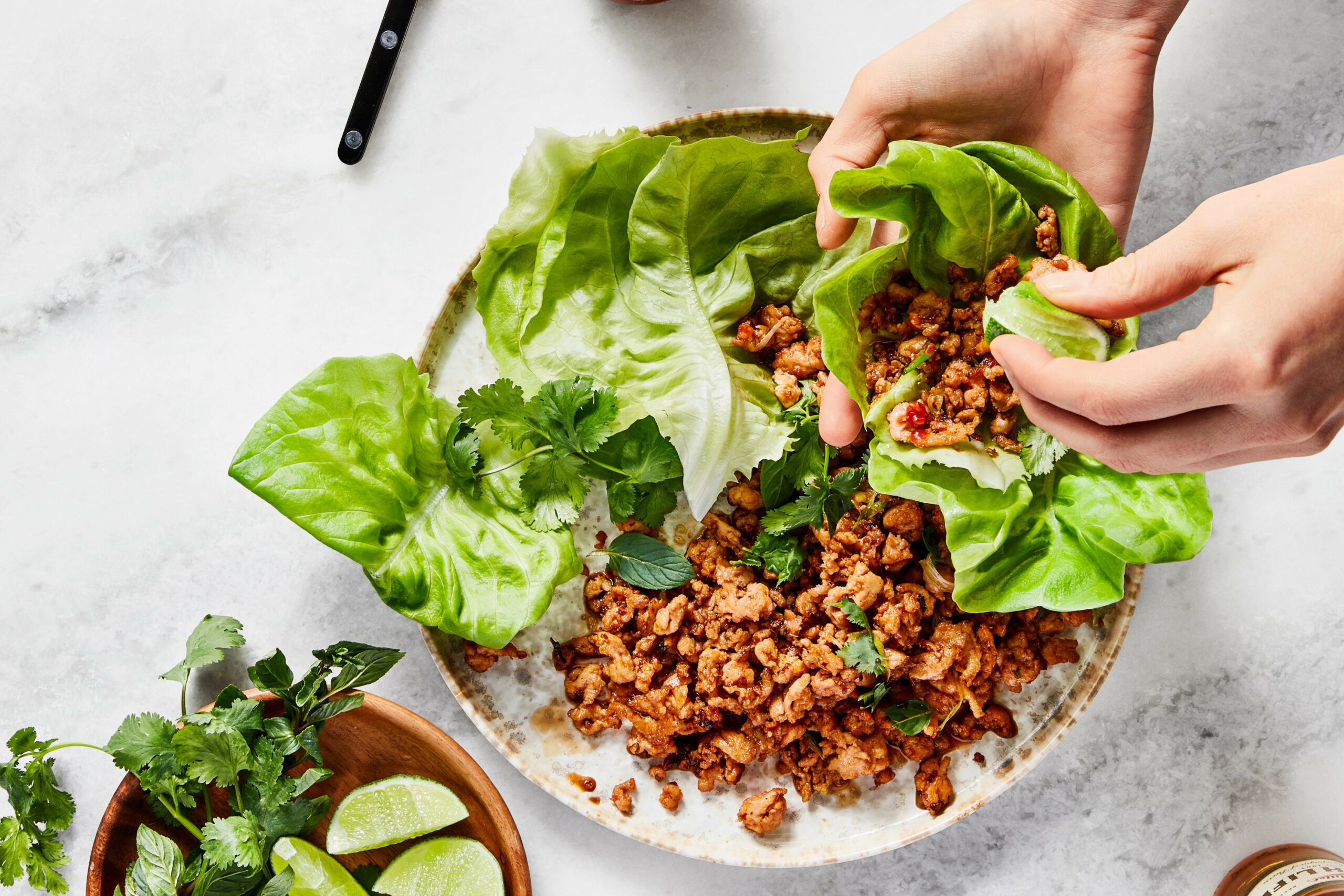 Spicy Chicken Lettuce Wraps - food recipes spicy