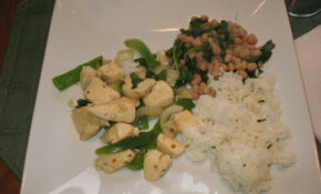 Spicy Chicken, Spinach With Beans And Flavorful Steamed Rice – Wok Recipes Chicken