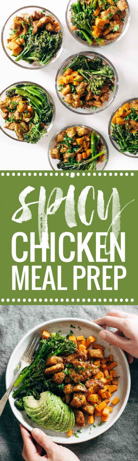 Spicy Chicken Sweet Potato Meal Prep Magic Bowls - recipes of healthy meals