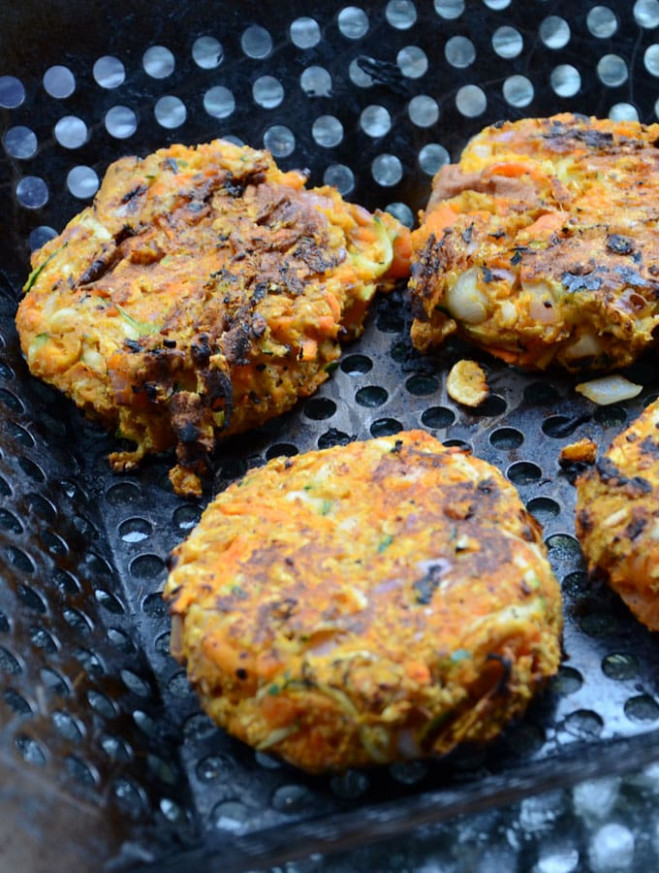 Spicy Chickpea Veggie Burgers (Vegan, Gluten-Free) - recipe vegetarian hamburger patties