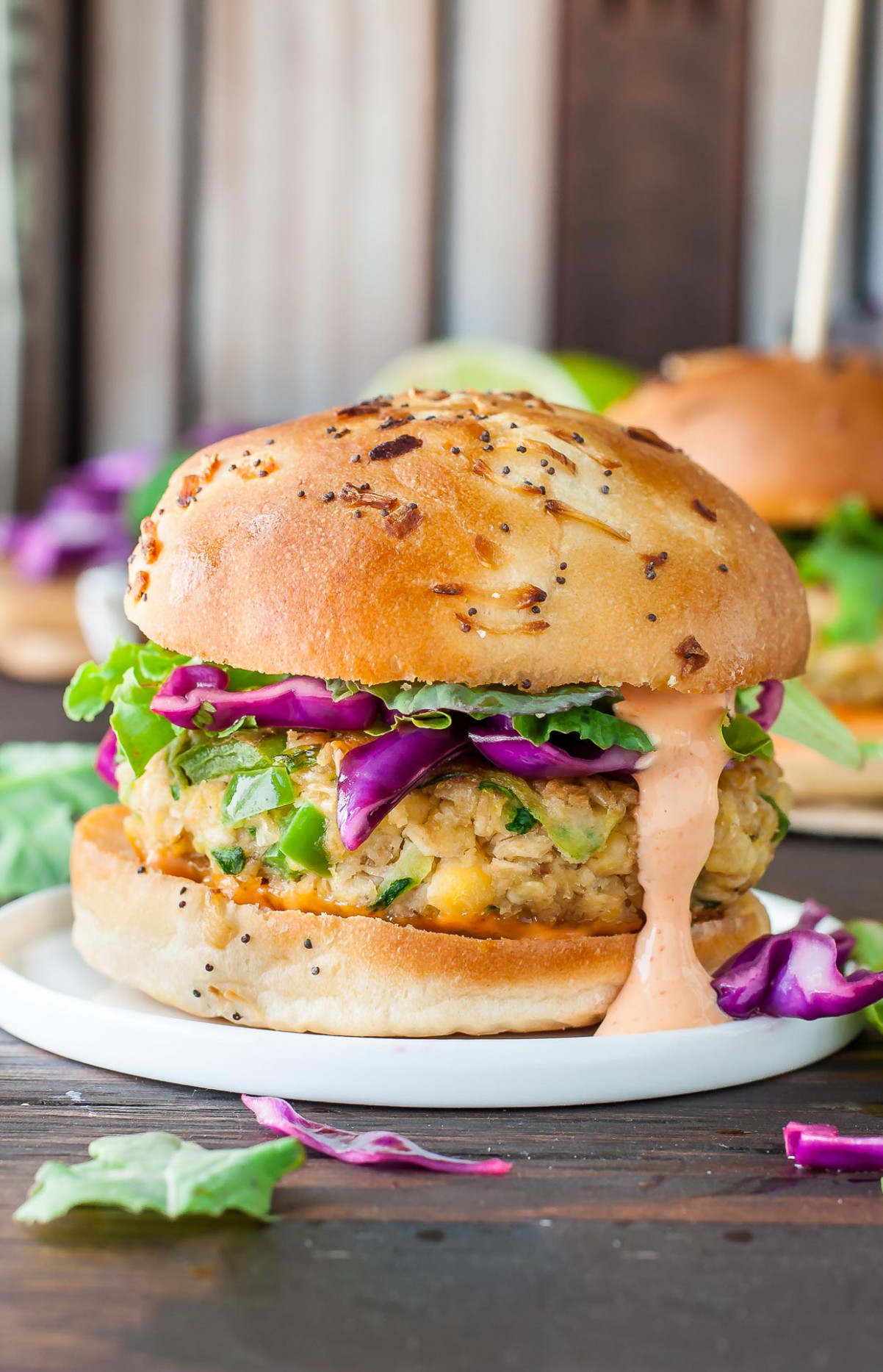 Spicy Chickpea Veggie Burgers with Jalapeño and Zucchini - recipe vegetarian hamburger patties