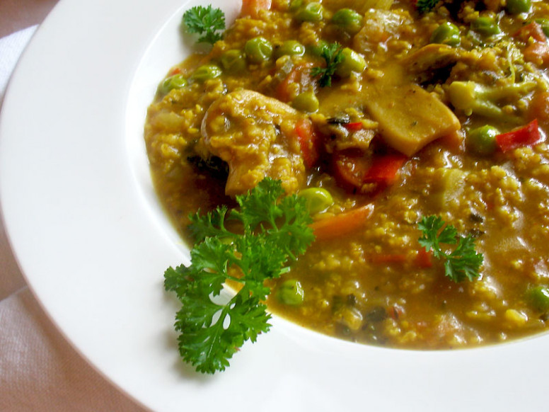 Spicy Curried Millet and Vegetable Soup | Lisa's Kitchen ..