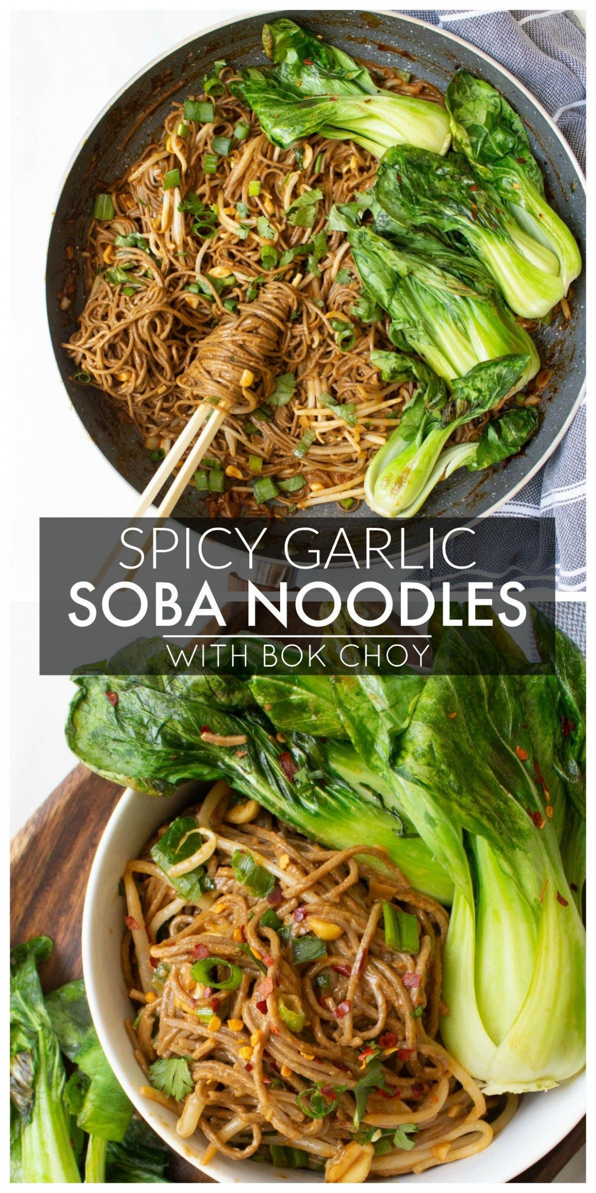 Spicy Garlic Soba Noodles with Bok Choy - recipes vegetarian noodles