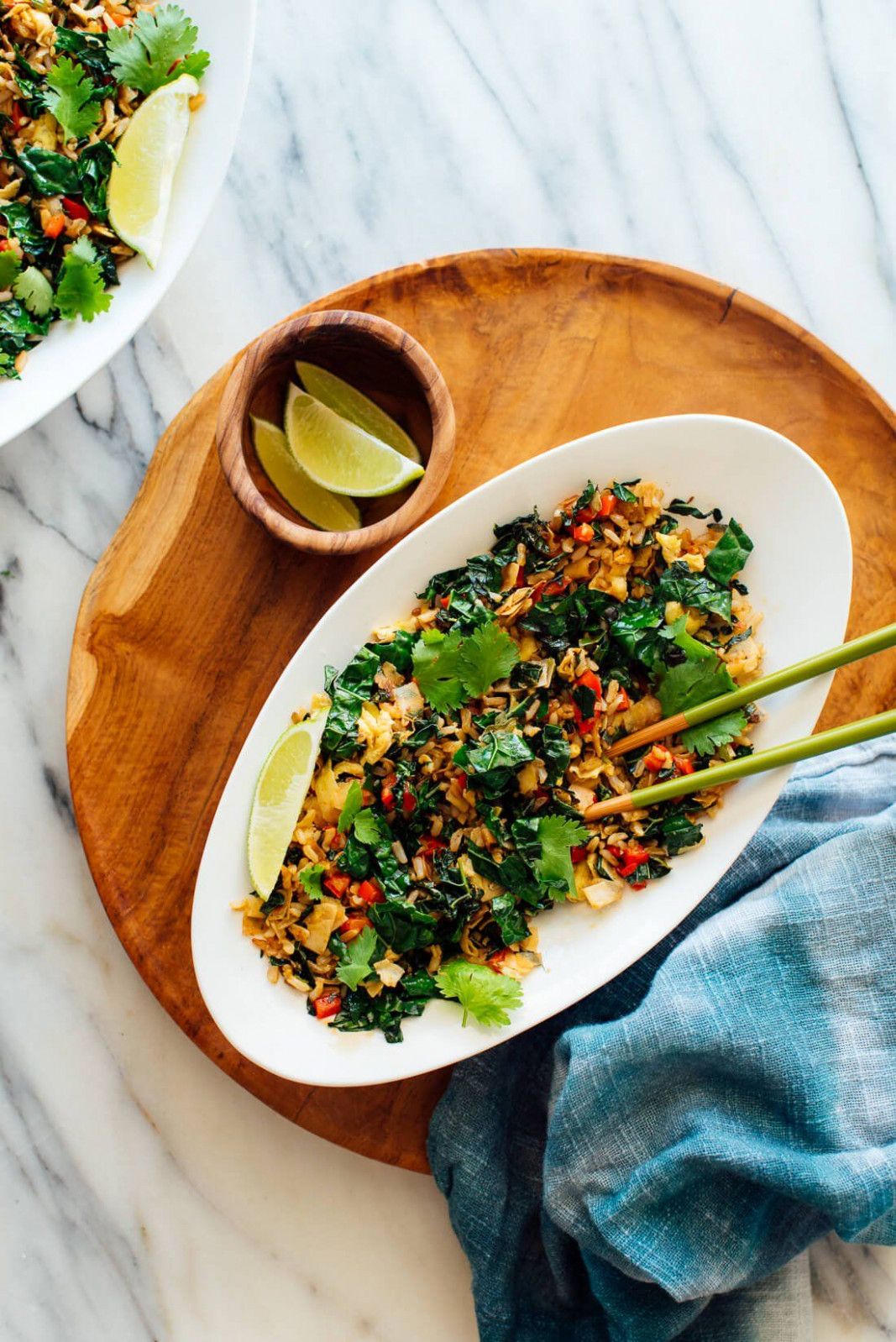 Spicy Kale And Coconut Fried Rice - Recipes With Rice Vegetarian