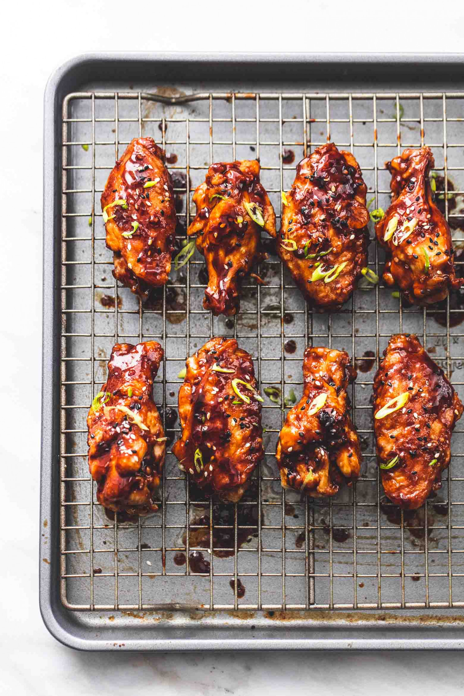 Spicy Korean BBQ Chicken Wings - chicken recipes korean