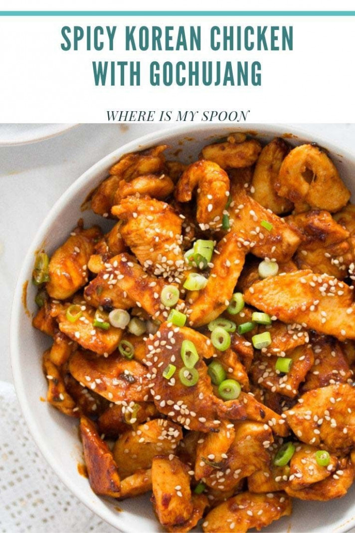 Spicy Korean Chicken in Gochujang Sauce - gochujang recipes chicken